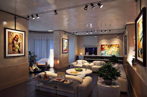освещение в комнате интерьер