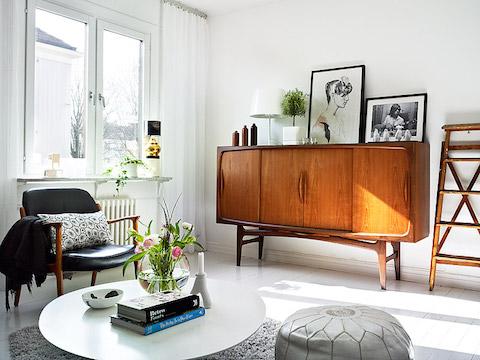 ретро мебель в интерьере